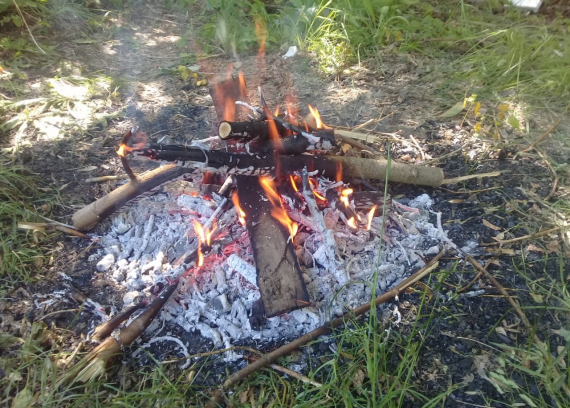 Нажигаем углей